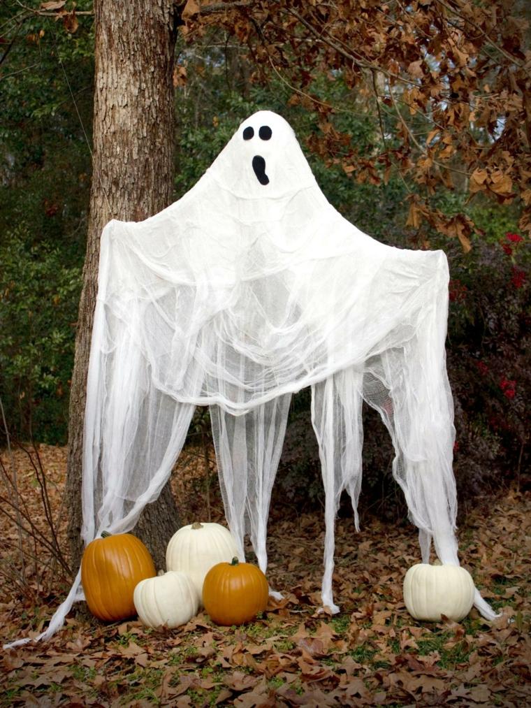 fantômes avec citrouilles