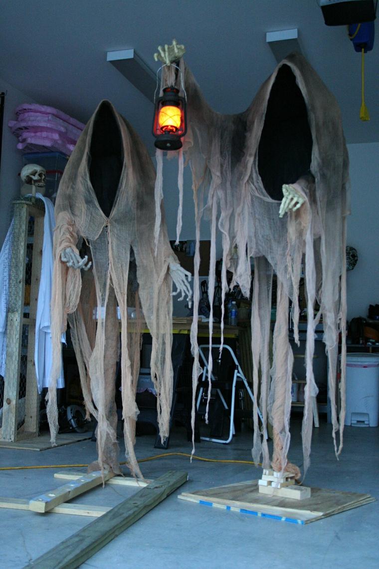 fantômes pour Halloween suspendus