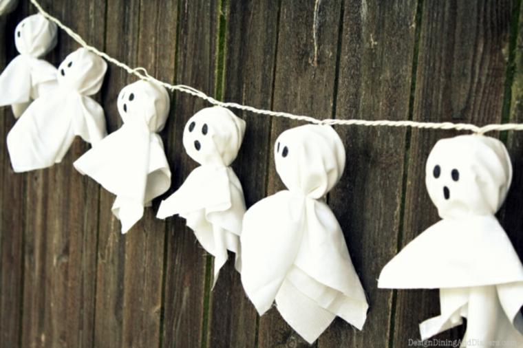 fantômes pour Halloween de papier