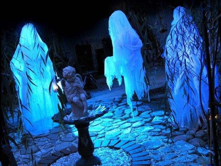 fantômes pour Halloween fluorescent