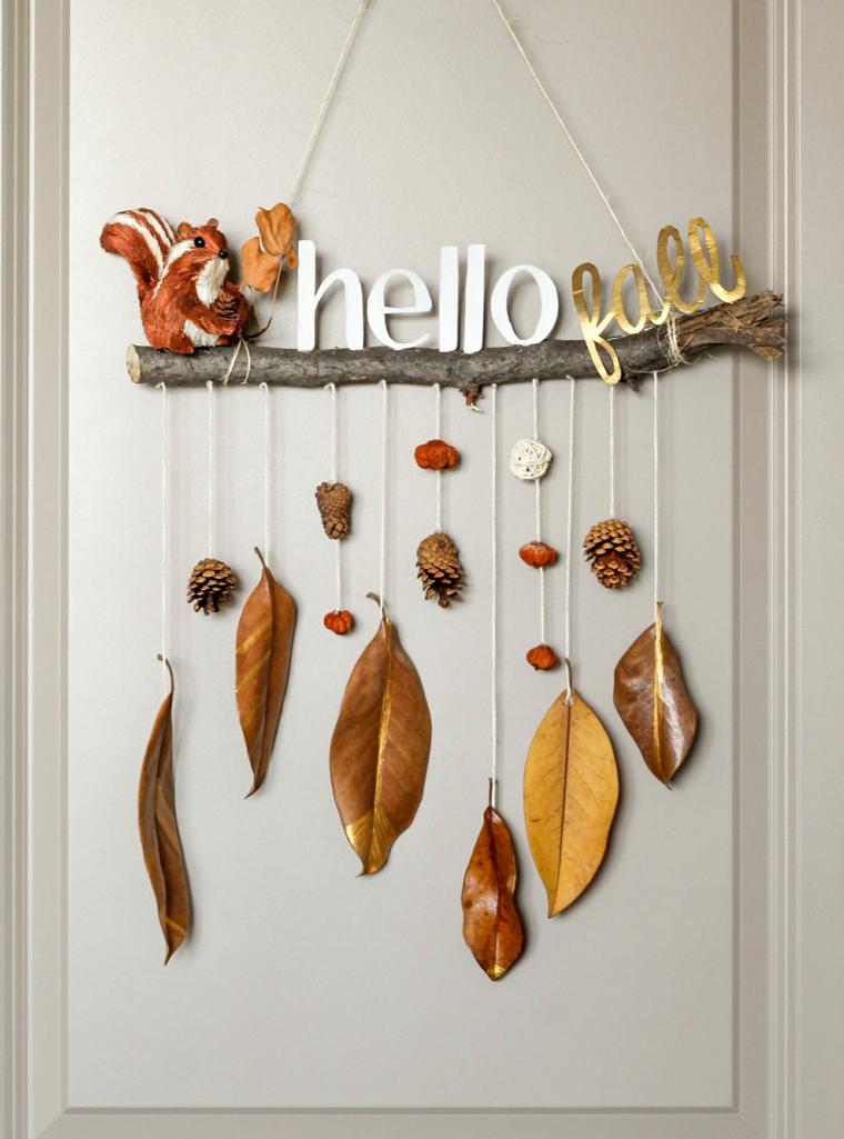 décoration avec feuilles sèches-intérieur