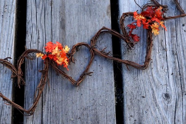 artisanat avec feuilles sèches-décorer