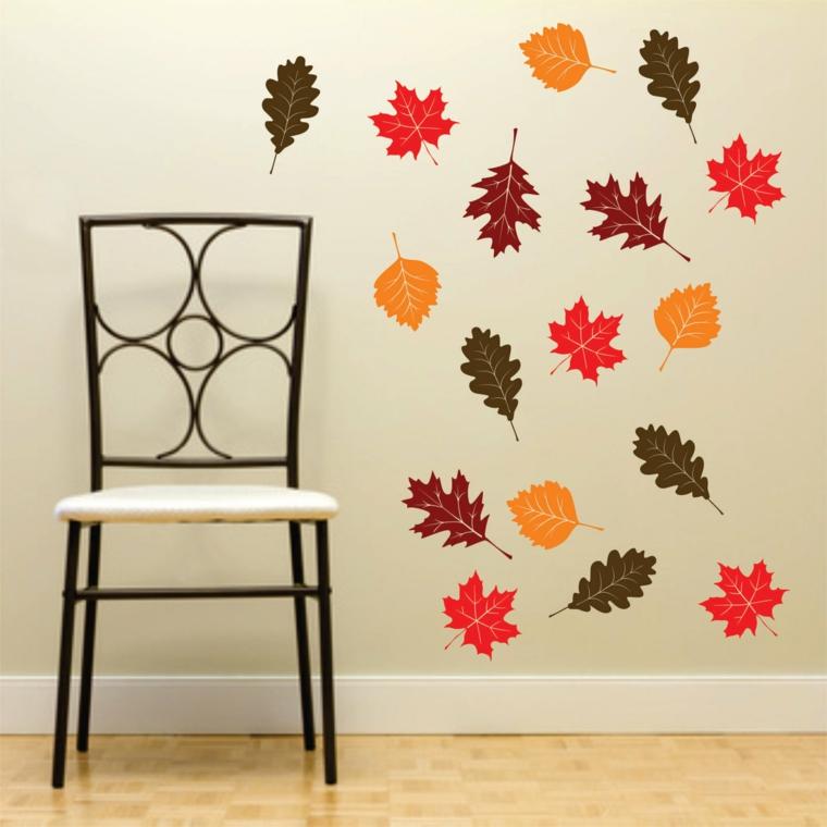 feuilles dautomne à décorer-mur