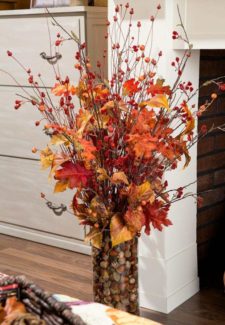 feuilles dautomne pour décorer-vases