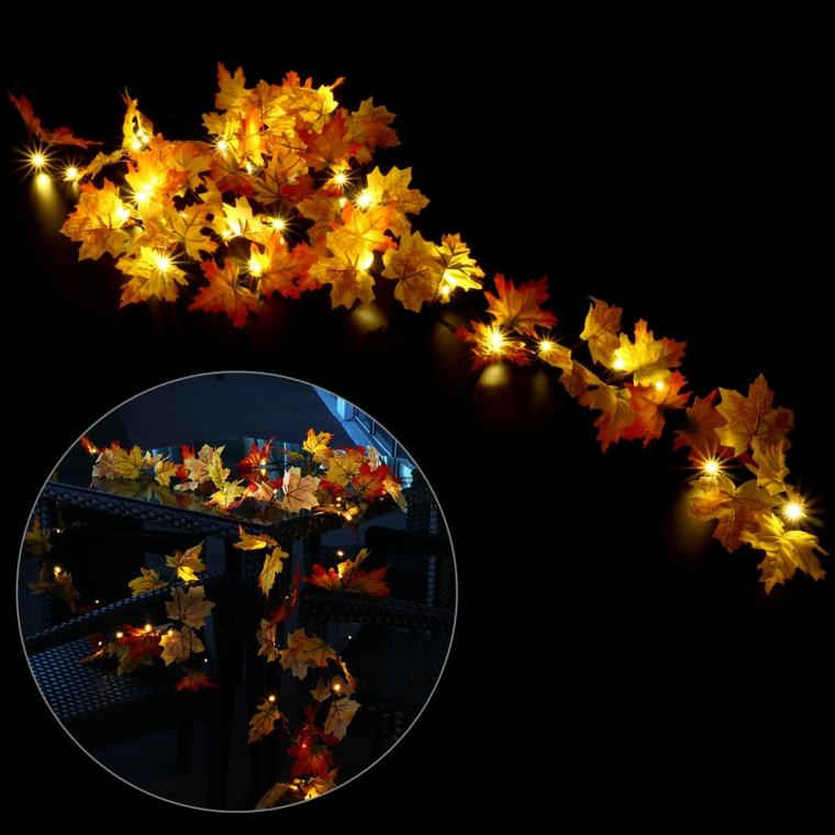 feuilles de décoration dry-lights