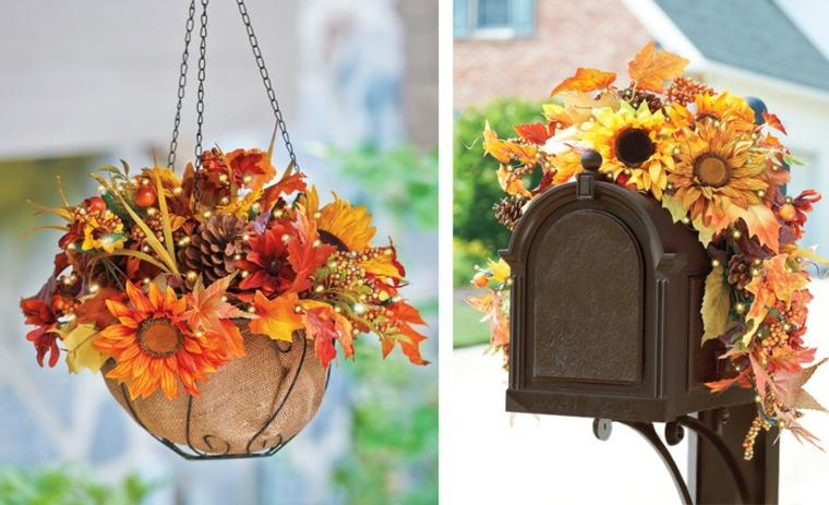 décoration de porte automne-extérieur