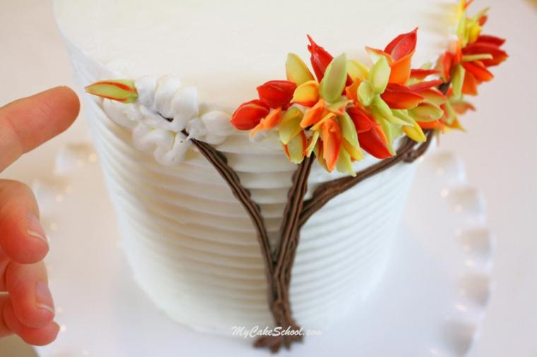 décoration dautomne feuilles séchées