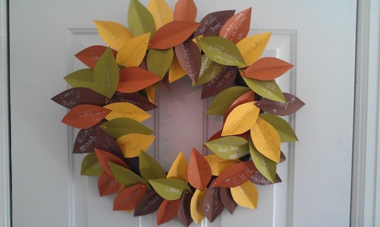 décoration de porte dautomne