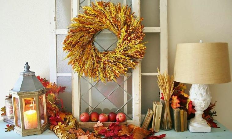 feuilles dautomne pour décorer-meubles
