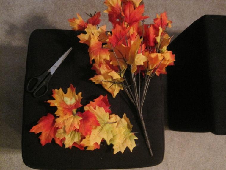 feuilles dautomne pour décorer les murs