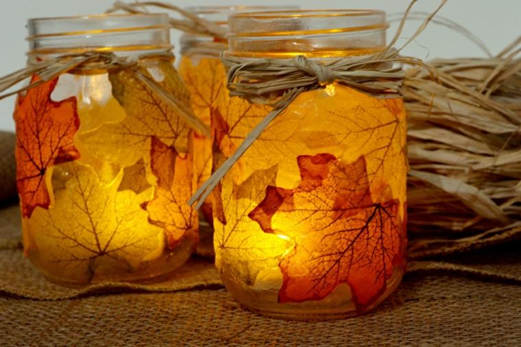 feuilles dautomne pour décorer-pots