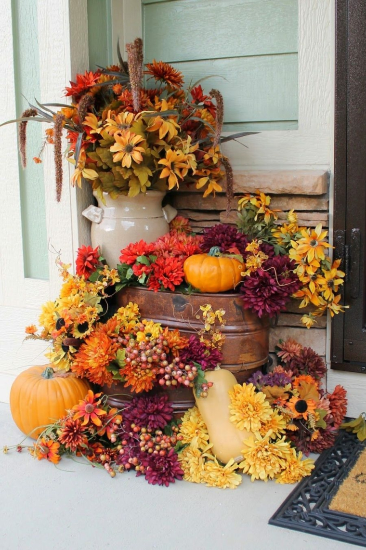 artisanat automne-feuilles-extérieur
