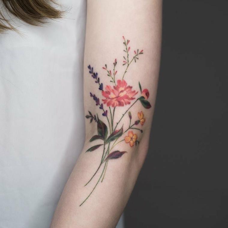 Tatouage de fleurs: définir sa signification
