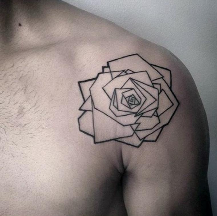 Tatouage de rose