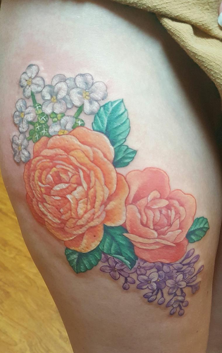 Tatouages de fleurs par Cherry Blossom