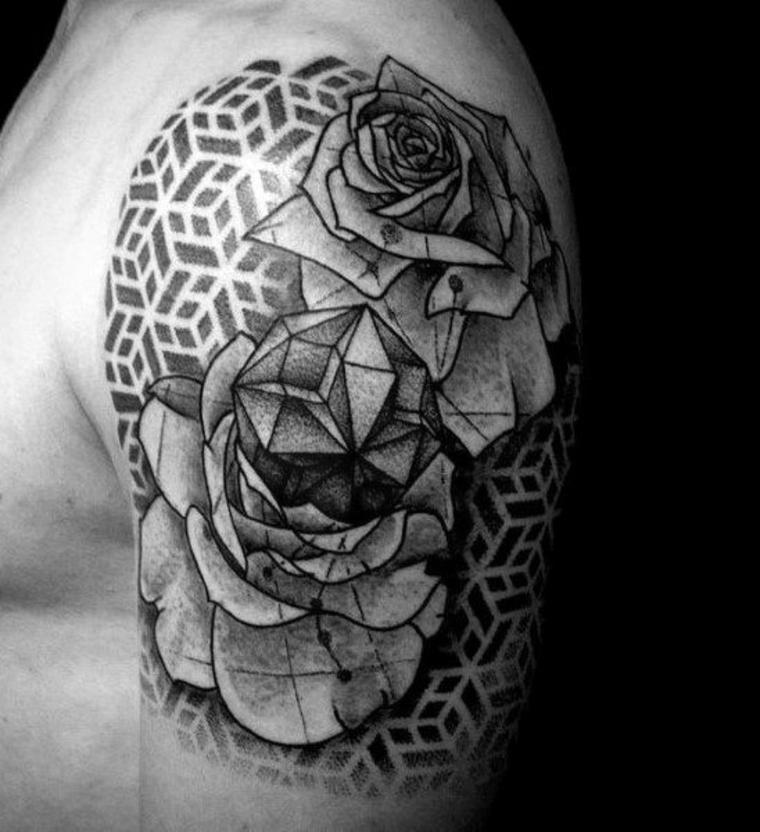 tatouage de fleur original