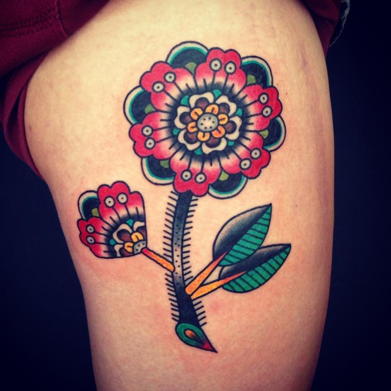 idées de tatouage de fleurs