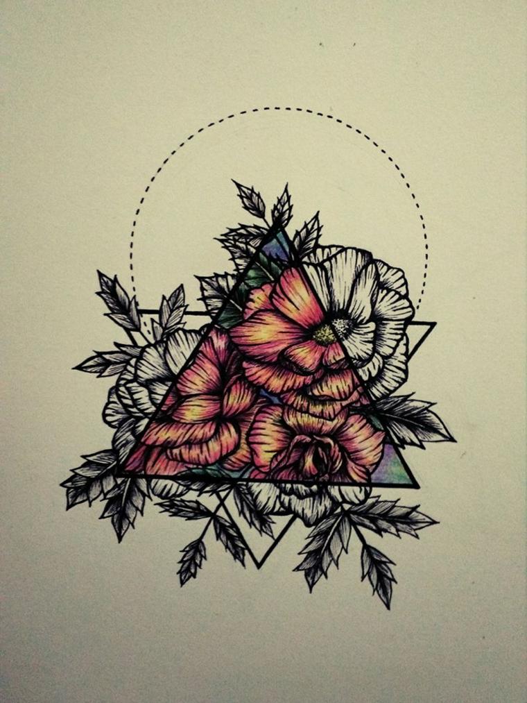 Tatouage de fleur renaissance