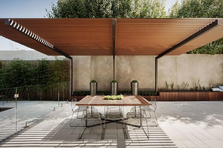 jardin-moderno-diseno-2019-comedor-diseño-minimalista