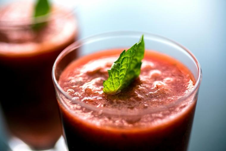 ingrédients de maison préparée gaspacho