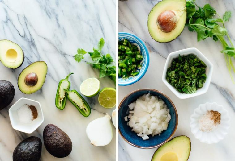 ingrédients de guacamole