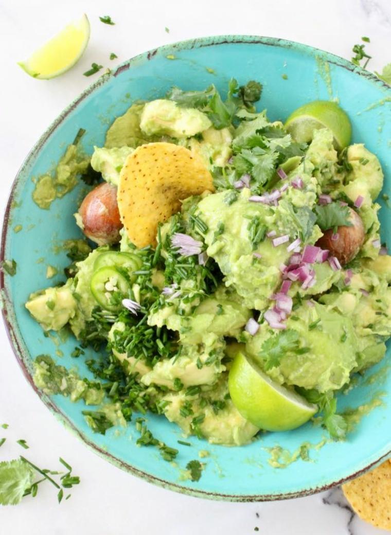 légumes sauce à lavocat