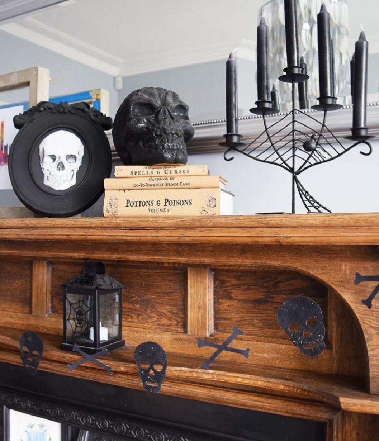 halloween 2018-garland-squelette-idées-original-décorer-maison