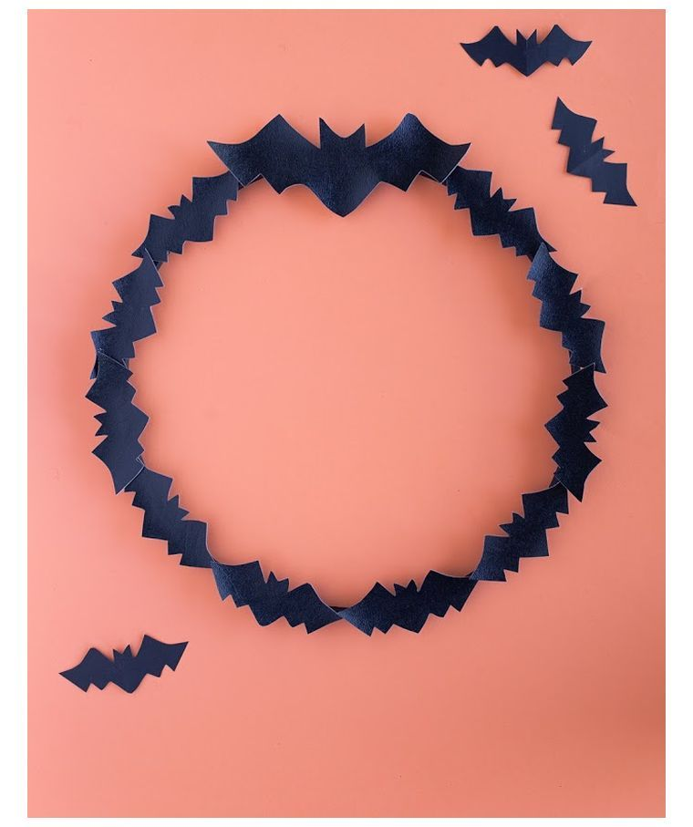 couronne chauves-souris style halloween