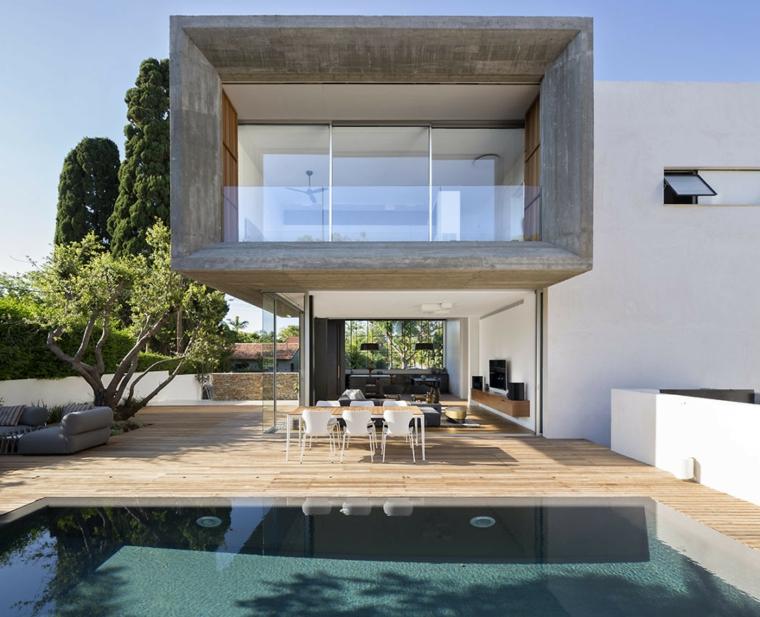 jardins de maisons-dessins-piscine