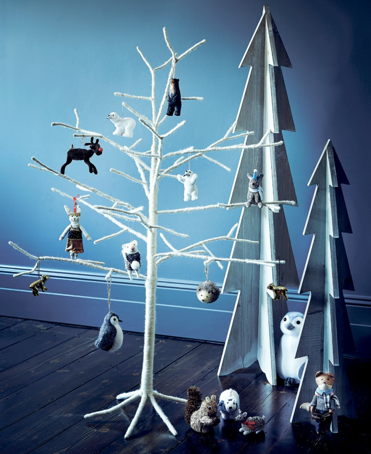 hygge decoration-arbre-noel-blanc