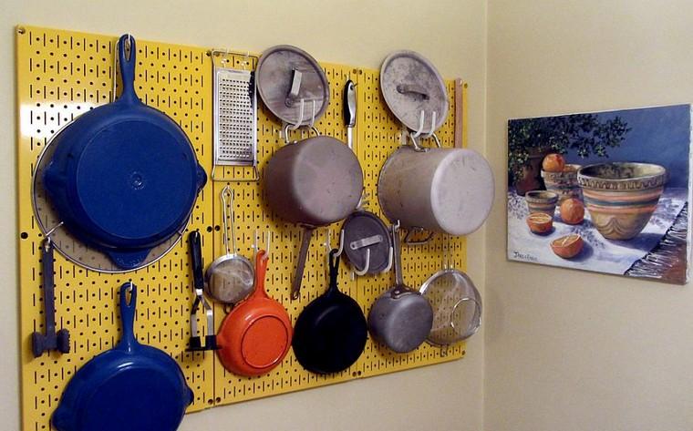 cocina-de-cocina-ideas-tablejo-piquets-couleur-jaune