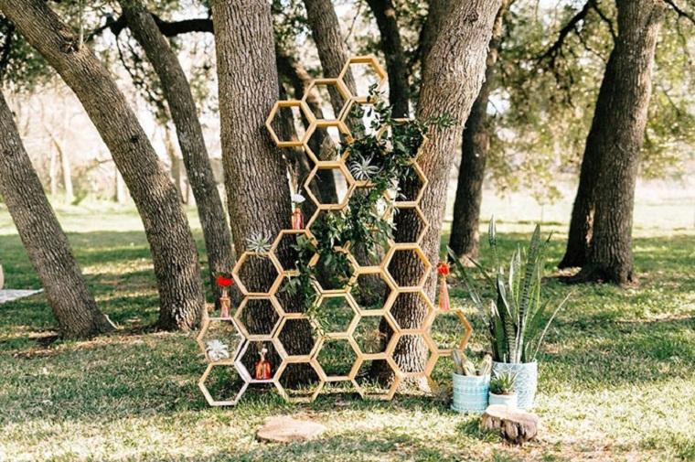 décoration de mariage-idées-géométriques-2019