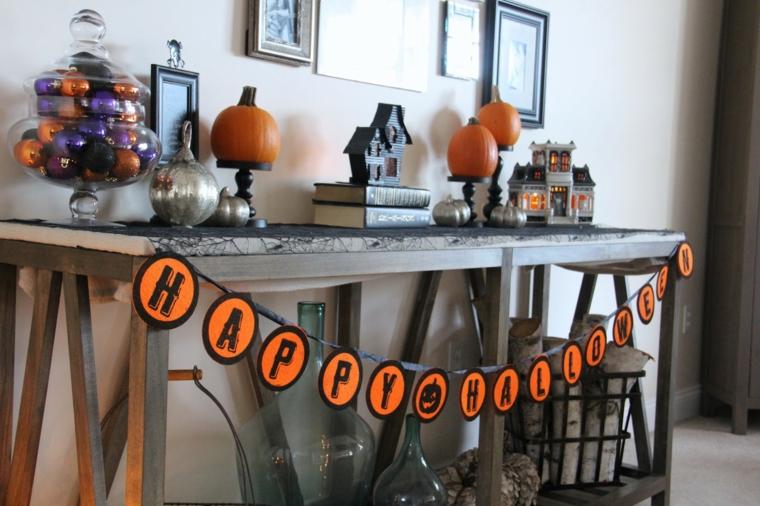 halloween ornements-décorer-entrée
