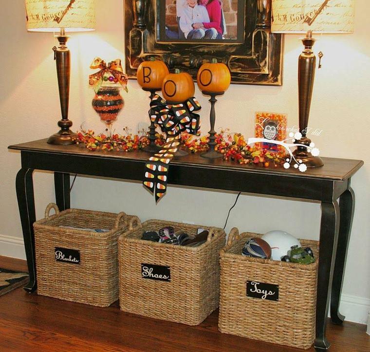halloween idées-décorer-entrée