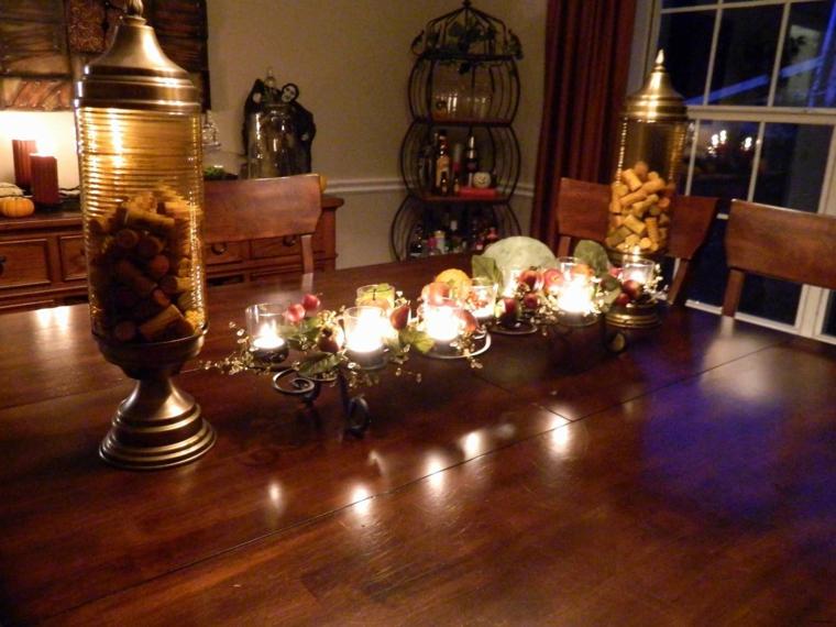 décoration de table dautomne