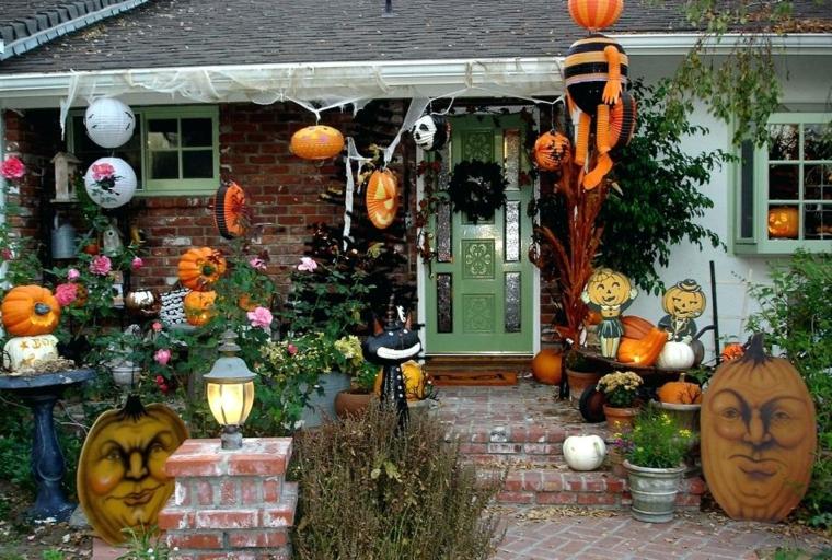 ornements pour halloween-décorer-jardin