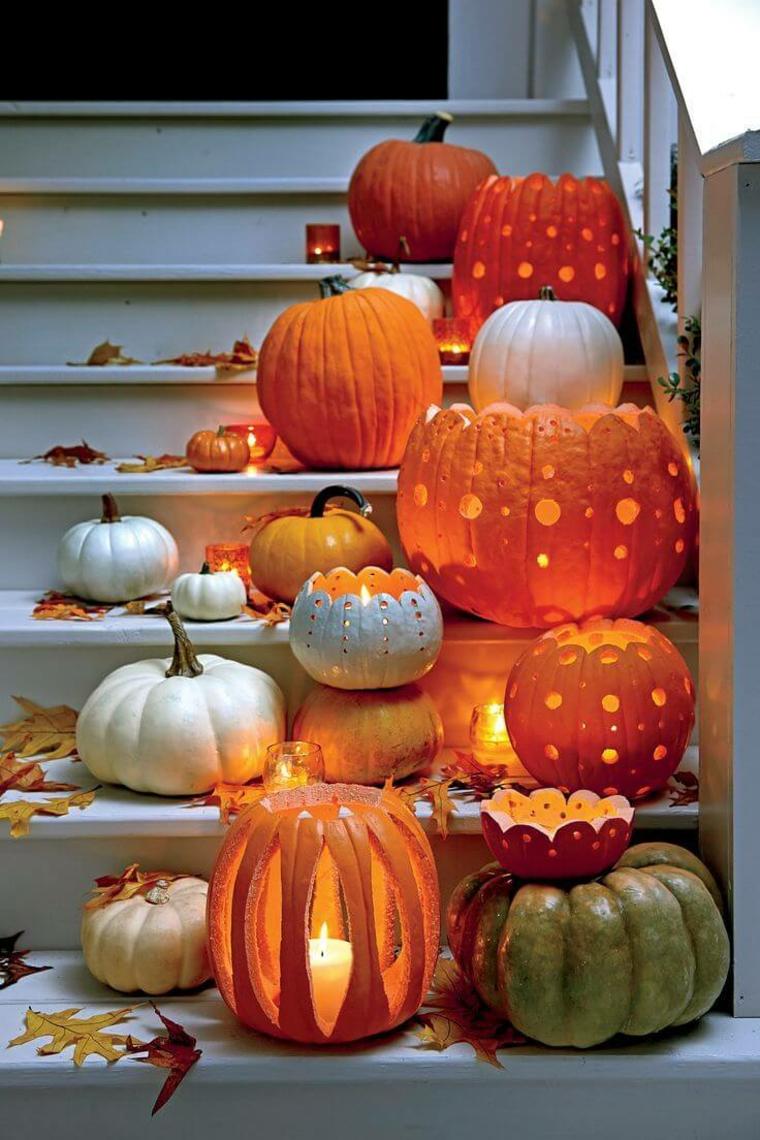 idées halloween-décorer-escalier