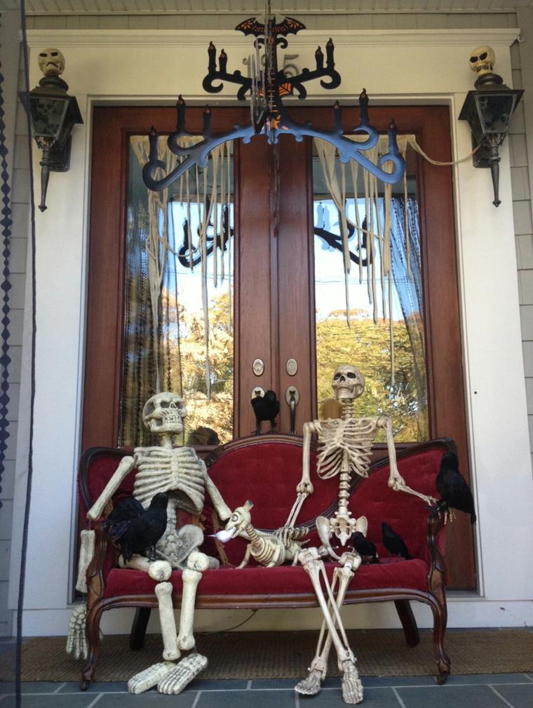arrangements pour halloween-extérieur