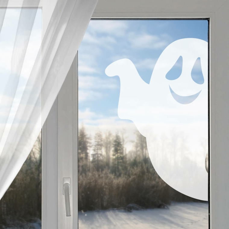 idées pour halloween-window-ghost