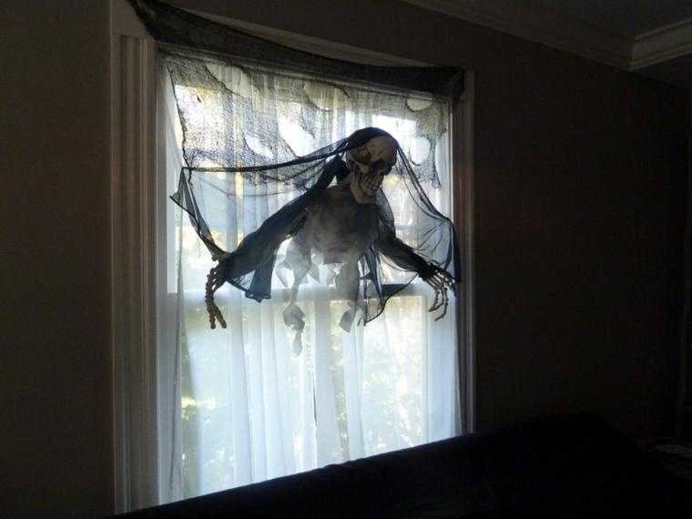 idées pour les fenêtres de décoration halloween