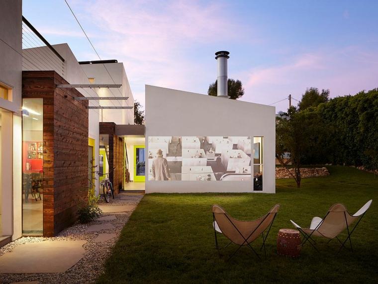 cinéma maison dans le jardin