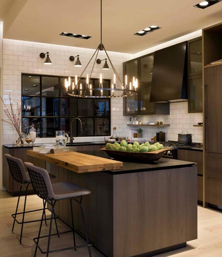 cuisine-design-idées-modernes-style-bois