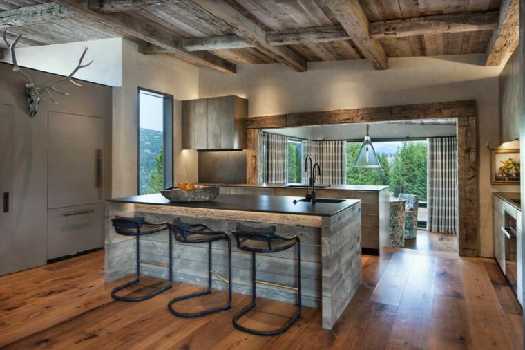 images de cuisines modernes-bunker-millerroodell-architectes