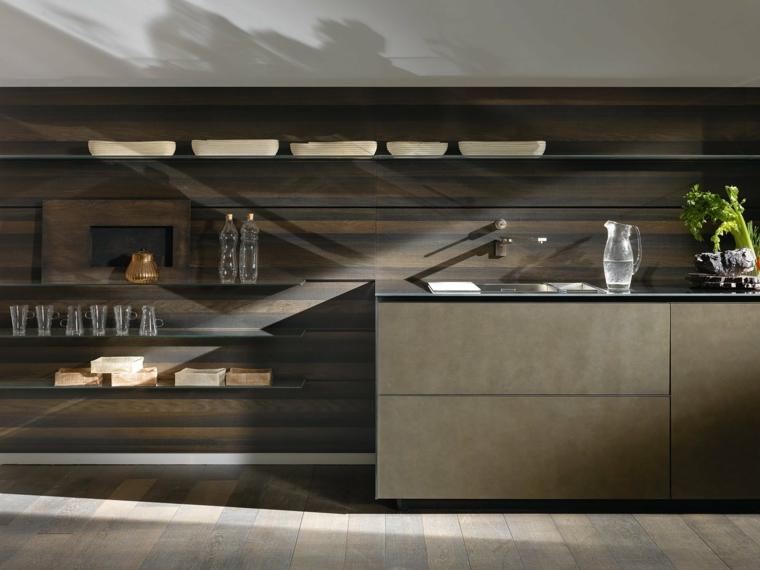 petites cuisines modernes-backsplash-elegant