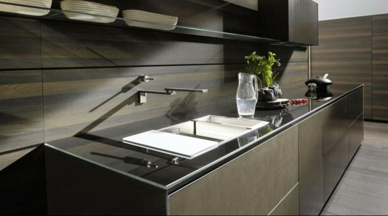 modèles de petites cuisines-backsplashes-modern