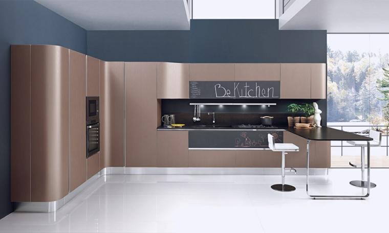 modèles de petites cuisines-backsplash-elegant