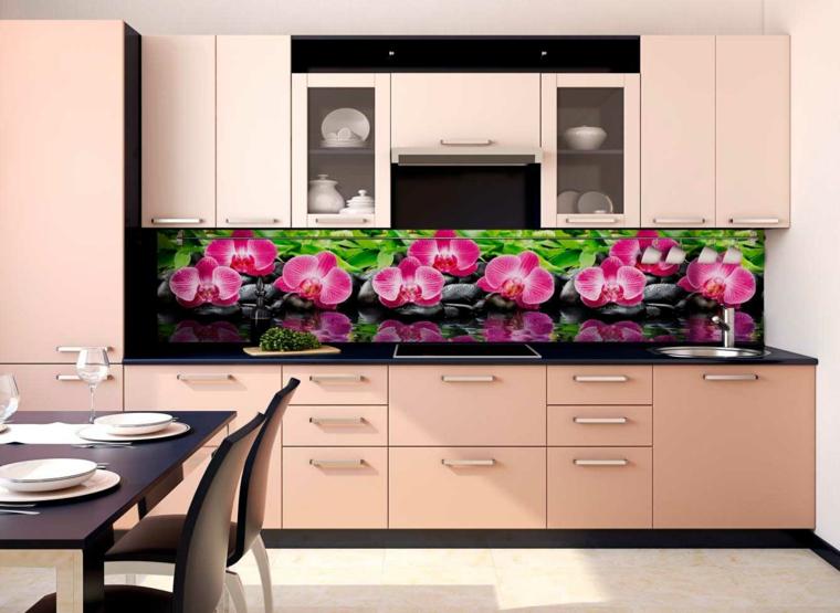 intérieurs de cuisine-dosserets-couleurs