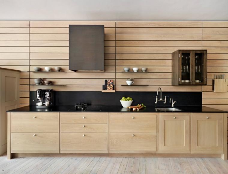 intérieurs modernes de tableaux de bord de cuisine
