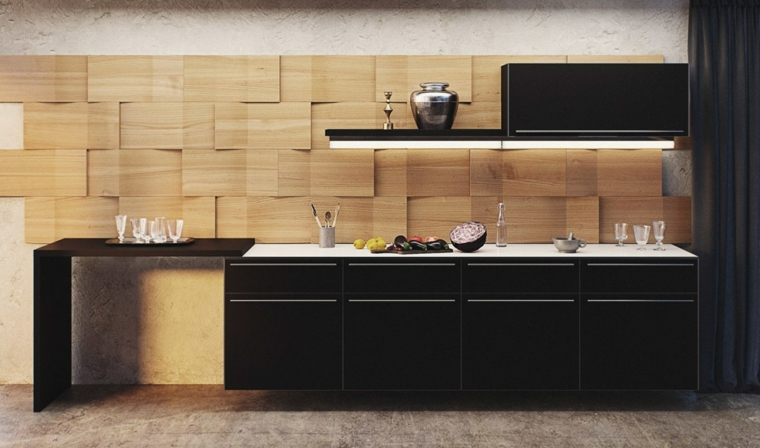 intérieurs de cuisines-backsplashes-modern-wood