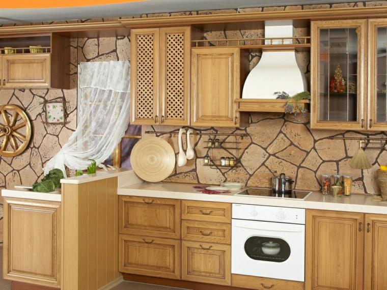 intérieurs de cuisines-backsplashes-rustic